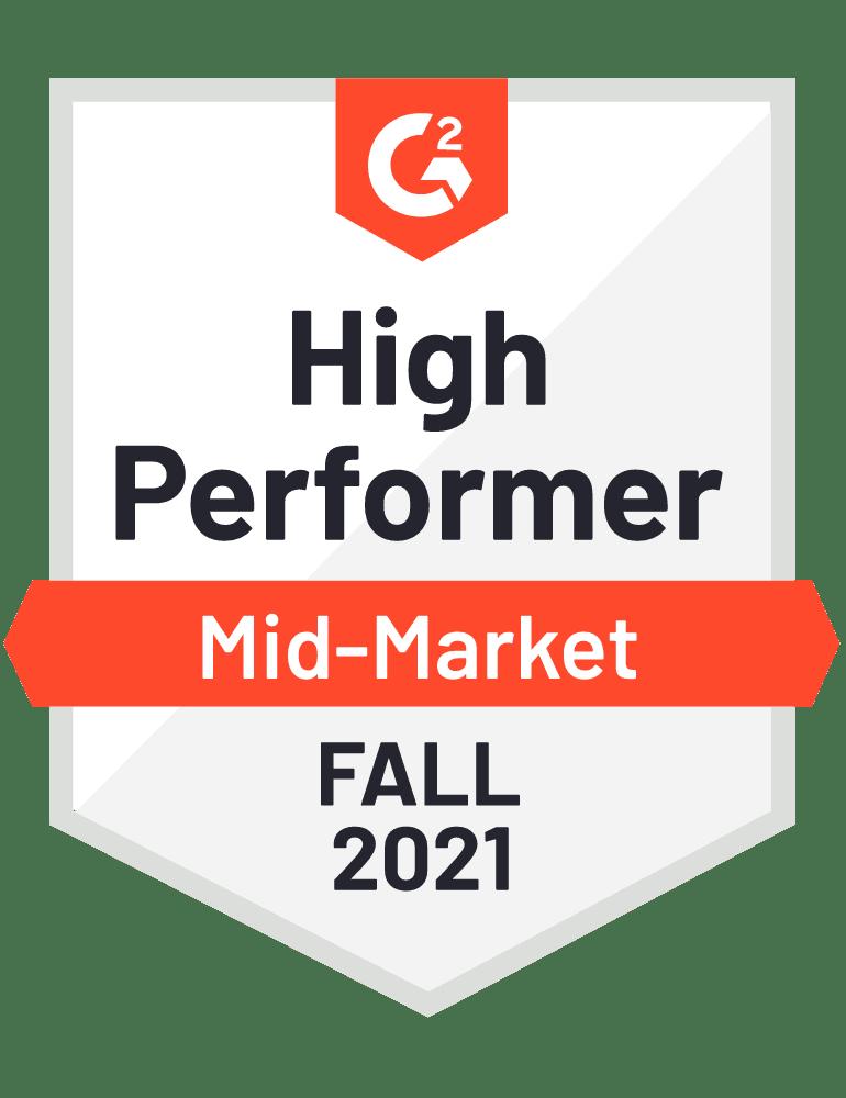 2021 fall mid-market high performer